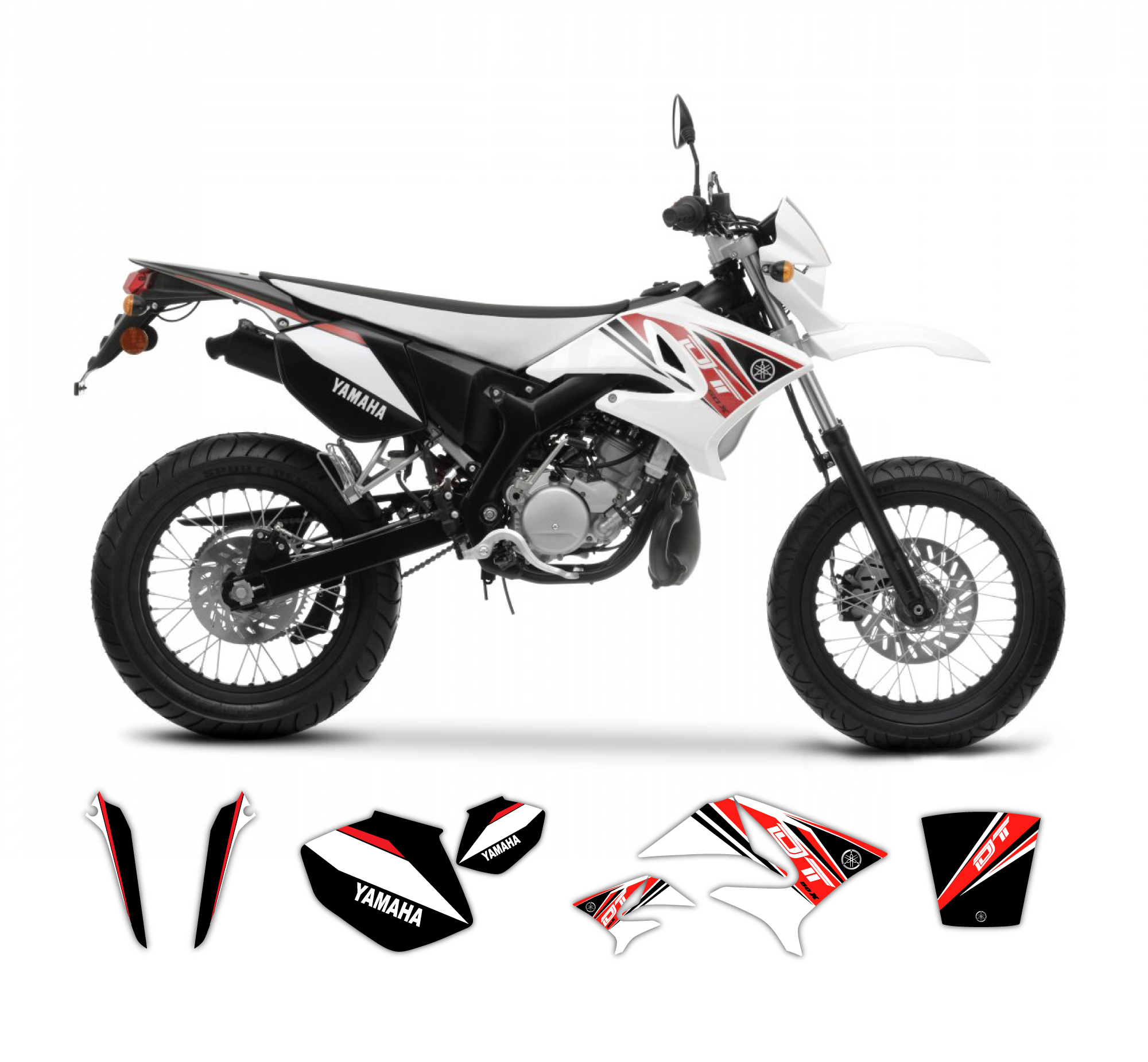 yamaha dt 50 x r replica graphics kit 2009 model tmx graphics. Black Bedroom Furniture Sets. Home Design Ideas