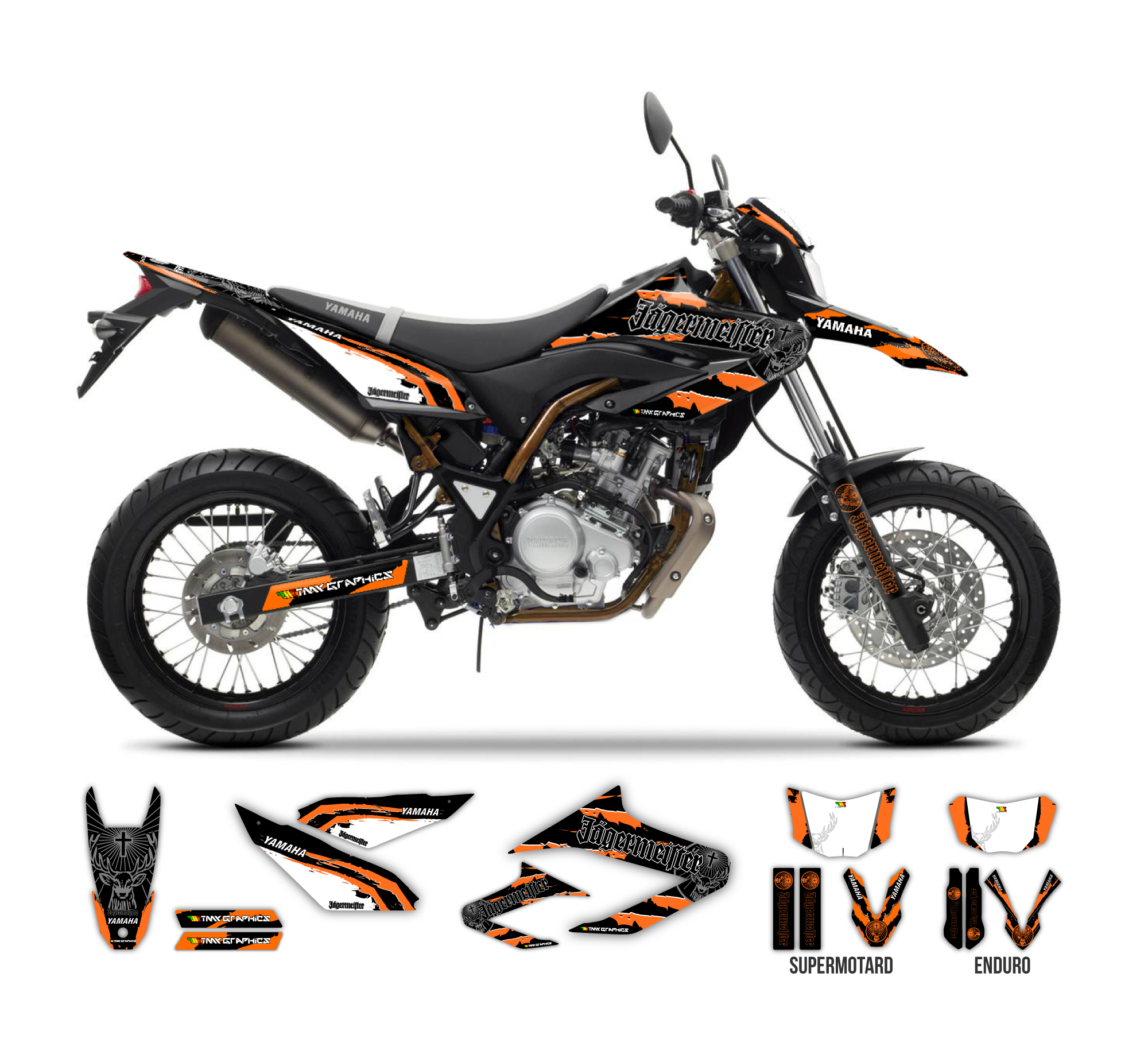 yamaha wr 125 r x jagermeister graphics series tmx graphics. Black Bedroom Furniture Sets. Home Design Ideas
